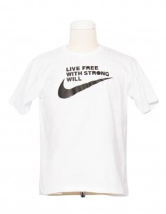 T-shirt blanc COMME DES GARÇONS BLACK x Nike pour homme - SS21