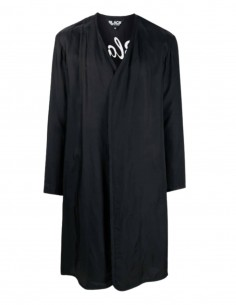 Black COMME DES GARÇONS BLACK light coat with tiger embroidery - SS21