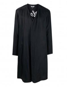 Manteau léger COMME DES GARÇONS BLACK noir avec broderie tigre - SS21