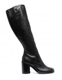 Black MAISON MARGIELA Tabi zipped heeled boots for women - FW21