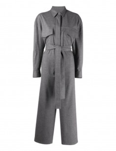 MM6 grey jumpsuit to tie with pockets for women - FW21