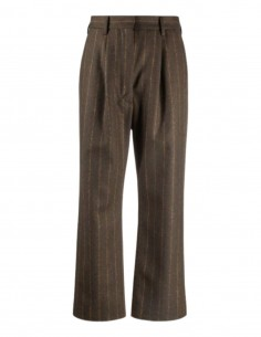 MM6 pleated pants in striped wool for women - FW21