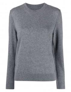 Pull cachemire MAISON MARGIELA gris avec coutures pour femme - FW21