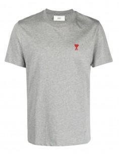 """T-shirt AMI PARIS gris logo """"Ami de coeur"""" pour homme - FW21"""