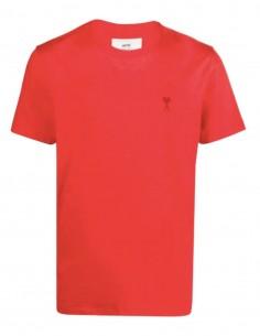 """T-shirt AMI PARIS rouge logo """"Ami de coeur"""" pour homme - FW21"""