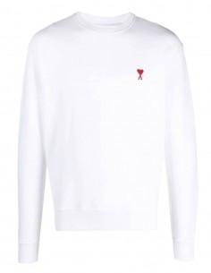 """Pull AMI PARIS blanc logo """"Ami de coeur"""" pour homme - FW21"""