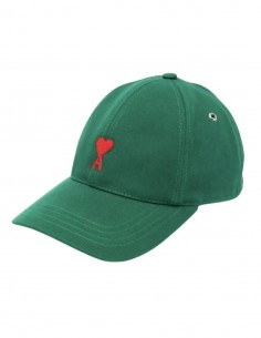 "AMI PARIS green cap with ""Ami de coeur"" logo for men - FW21"