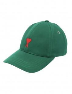 """Casquette AMI PARIS verte logo """"Ami de coeur"""" pour homme - FW21"""