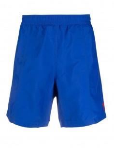 "AMI PARIS blue swim shorts with ""Ami de coeur"" logo for men - FW21"