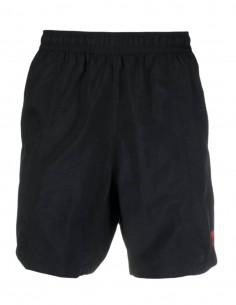 "AMI PARIS black swim shorts with ""Ami de coeur"" logo for men - FW21"