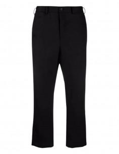 Black COMME DES GARÇONS BLACK straight pants 7/8 cut for men - S221