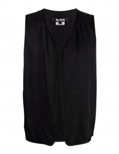 COMME DES GARÇONS BLACK sleeveless black jacket with tiger embroidery - SS21