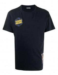 "T-shirt bleu marine RAF SIMONS ""Teenage Dreams"" pour homme - SS21"