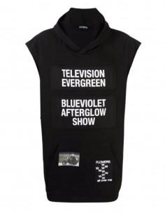 "RAF SIMONS black ""Television Evergreen"" sleeveless sweatshirt - SS21"