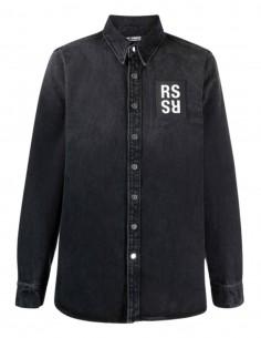RAF SIMONS X Joy Division grey denim shirt for men - S221