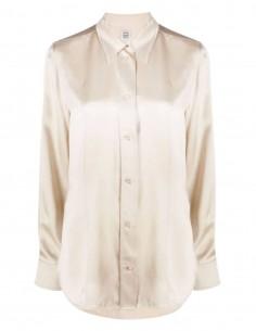 Chemise TOTEME en soie écrue avec boutons nacrés pour femme - FW21