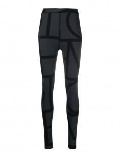 TOTËME black leggings with monogram for women - FW21