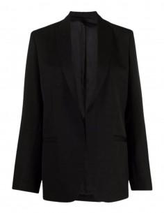 Veste de blazer TOTEME oversize noire avec poches pour femme - SS21