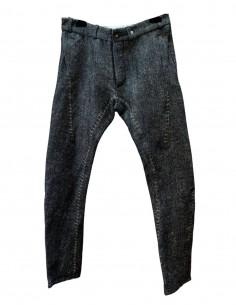 """Pantalon """"EPICURIEN NIMES"""" en toile de laine"""