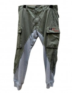 Pantalon battle kaki moitié jogging PAUL & SHARK x GREG LAUREN bi-matière