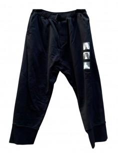 Pantalon de jogging en coton noir avec photos imprimées JULIUS