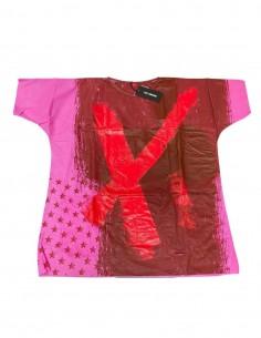 T-shirt raf simons en Tyvek peint à la main Pièce unique