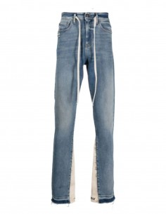 VAL KRISTOPHER blue jeans with inserts and drawstrings - PERMANENT