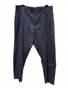 Pantalon noir de coupe sarouel longueur crop isabel benenato homme