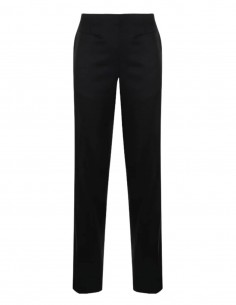 MM6 black suit trousers with side zip for women - FW21