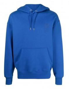 "Oversized AMI PARIS blue sweatshirt with ""Ami de coeur"" logo for men - FW21"