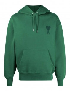 "Oversized AMI PARIS green sweatshirt with ""Ami de coeur"" logo for men - FW21"