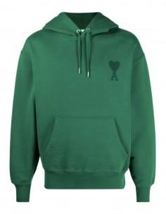 """Sweatshirt oversize AMI PARIS vert logo """"Ami de coeur"""" pour homme - FW21"""