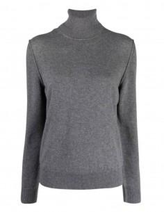 Pull col roulé MAISON MARGIELA en cachemire gris pour femme - FW21
