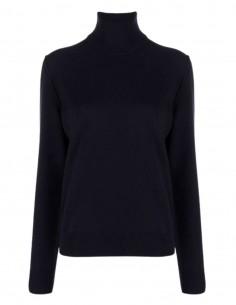 MAISON MARGIELA turtleneck sweater in navy blue cashmere for women - FW21