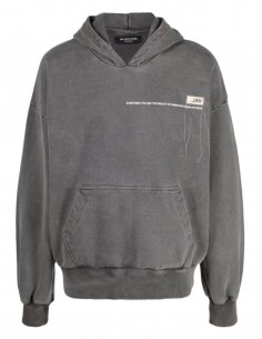 Sweat à capuche VAL KRISTOPHER oversize gris avec logo pour homme - SS21