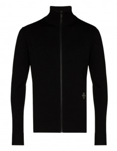 A-COLD-WALL black zip-neck collar sweater for men - SS21