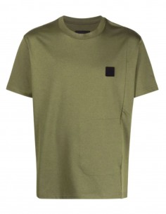A-COLD-WALL kaki t-shirt with logo and slit pocket for men - SS21