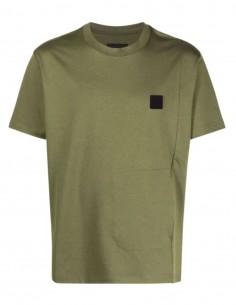T-shirt A-COLD-WALL kaki avec logo et poche fendue pour homme - SS21
