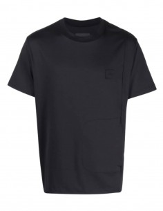 A-COLD-WALL black t-shirt with logo and slit pocket for men - SS21