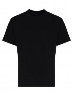 Black A-COLD-WALL T-shirt with logo and visible seams - SS21