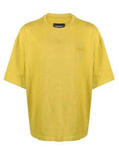Oversized A-COLD-WALL yellow t-shirt with big logo patch for men - SS31