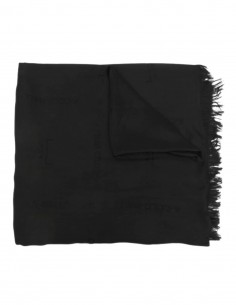Black A-COLD-WALL multi-logo jacquard patterned scarf for men - SS21