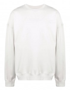 Ecru A-COLD-WALL oversize sweater with big logo patch for men - SS21