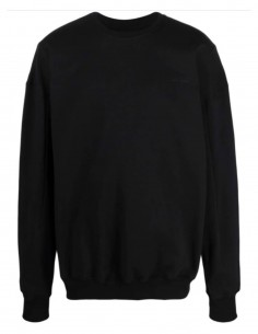 Black A-COLD-WALL oversize sweater with big logo patch for men - SS21