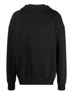A-COLD-WALL black oversized sweatshirt with big patch logo for men - SS21