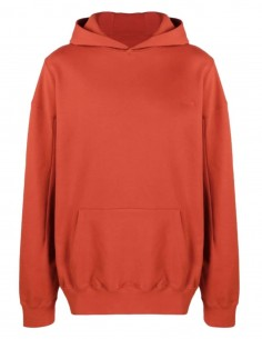 A-COLD-WALL orange oversized sweatshirt with big patch logo for men - SS21