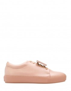 """ACNE STUDIOS """"Adriana"""" sneakers with removable smiley in pink"""