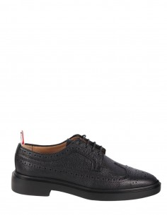Black derby in full grain leather from the THOM BROWNE