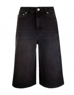 Bermuda GANNI en jean noir avec logo pour femme - FW21