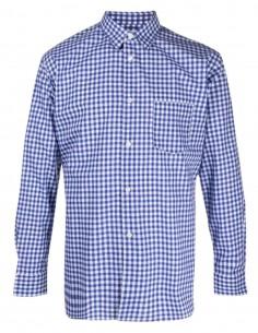 COMME DES GARÇONS blue shirt with gingham check pattern for men - FW21